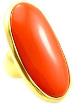 Kenneth Jay Lane Coral Resin & Gold Ring
