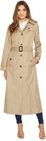 London Fog Long Single Breasted Trench Coat