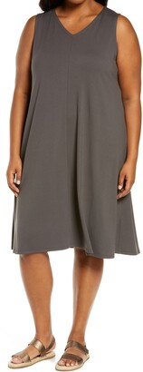 Eileen Fisher V-Neck A-Line Dress