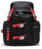 Hugo Boss Unisex drawstring backpack in nylon gabardine with leather trims