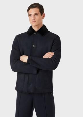Giorgio Armani Shearling Jacket With Suede Finish