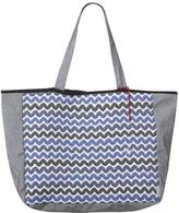 SOPHIA-ENJOY THINKING - Jacquard Tote Bag Waves Pattern
