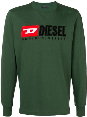 Diesel Embroidered Logo Jersey Sweater