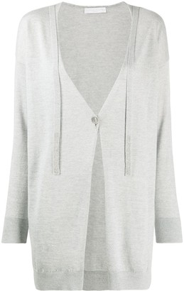 Fabiana Filippi Single-Button Embeliished Cardigan