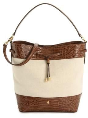 Lauren Ralph Lauren Debby Leather Bucket Bag