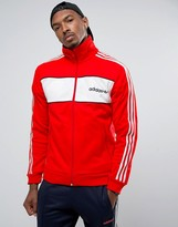 adidas London Pack Block Track Jacket In Red BK7840