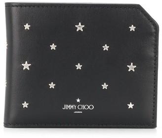 Jimmy Choo Star-Studded Logo-Print Wallet
