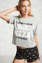 Forever 21 FOREVER 21+ Leave The Pizza PJ Set