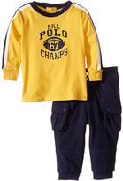 Ralph Lauren Jersey Graphic Pants Set (Infant)