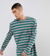 Puma Long Sleeve Striped Top In Green Exclusive To ASOS