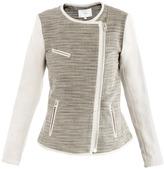 IRO Deven leather-trimmed jacket
