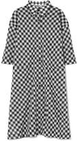 McQ Gingham Cotton-voile Dress - Black