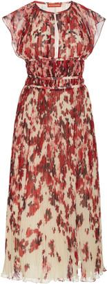 Altuzarra Angi Printed PlissA Midi Dress