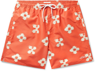 Saturdays NYC Timothy Mid-Length Printed Ripstop Swim Shorts