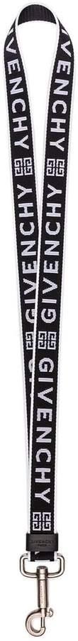 Givenchy black and white logo lanyard keyring