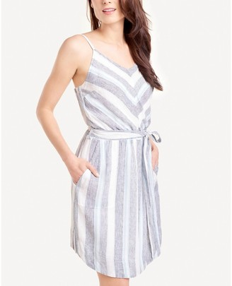 Splendid Sleeveless Striped Dress - Sea Stripe