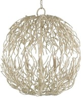 The Well Appointed House White Coral Sphere Chandelier