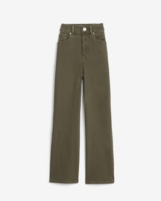 Express Super High Waisted Cropped Wide Leg Pant