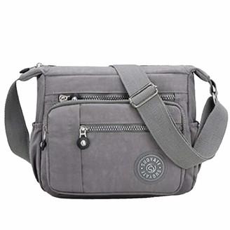 Mangetal Womens Multi Pocket Casual Canvas Crossbody Bag Travel Purse Messenger Handbag for Shopping Hiking Daily Use (Camo black and red)