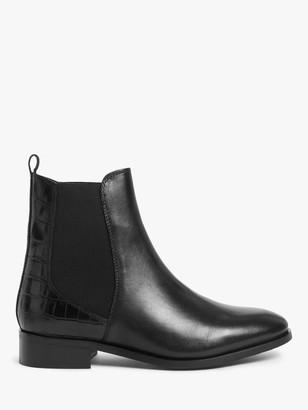 John Lewis & Partners Peace Suede Chelsea Boots, Black