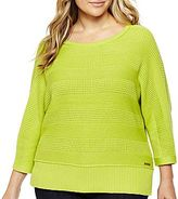 Liz Claiborne Dolman-Sleeve Pullover - Plus