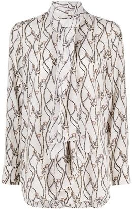 Salvatore Ferragamo Gancini rope-print blouse