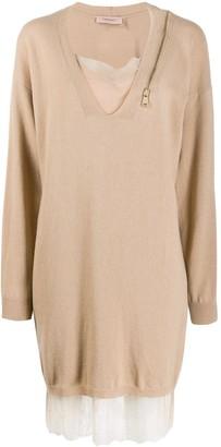 Twin-Set Layered Sweater Dress