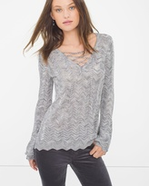 White House Black Market Lace-Up Sweater