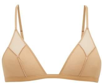 La Perla Agata Tulle Triangle Bra - Womens - Nude