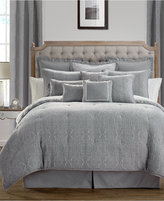 Waterford Carlisle Platinum Reversible Queen Comforter Set