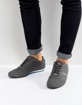 BOSS GREEN by Hugo Boss Lighter Lowp Coated Denim Sneakers Gray