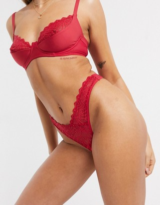 Cosabella Keira high rise thong in red