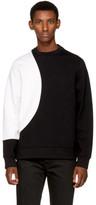 Diesel Black Gold Black and White Contrast Sweatshirt