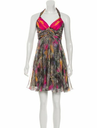 Matthew Williamson Silk Pleated Dress Multicolor