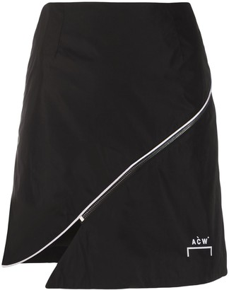 A-Cold-Wall* Zip-Embellished Shell Skirt