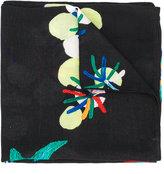 Diesel floral embroidered scarf