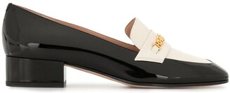 Bally Two-Tone Logo-Embellished Loafers