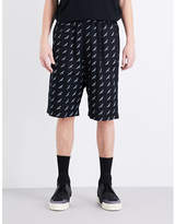 Balenciaga Brand-print Regular-fit Cotton Shorts