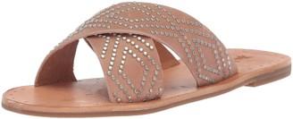 Frye Women's Ally Deco Stud Criss Cross Slide Sandal Black 11 M US