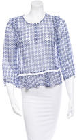 Twelfth Street By Cynthia Vincent Silk Printed Blouse