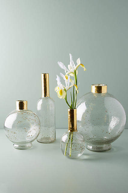 Anthropologie Gilded Vase