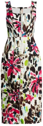 Marni Sleeveless Printed Midi Dress