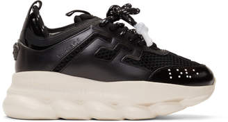 Versace Black Chain Reaction Sneaker