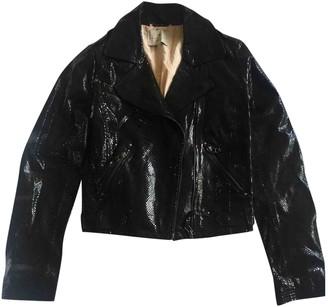 Essentiel Antwerp Black Suede Jackets