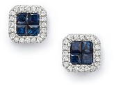 Bloomingdale's Diamond and Sapphire Earrings in 14K White Gold