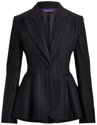 Ralph Lauren Arding Chalk Stripe Flannel Jacket