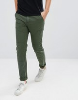 Asos Skinny Cargo Trousers In Green