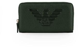 Emporio Armani Dark Green Zip Wallet