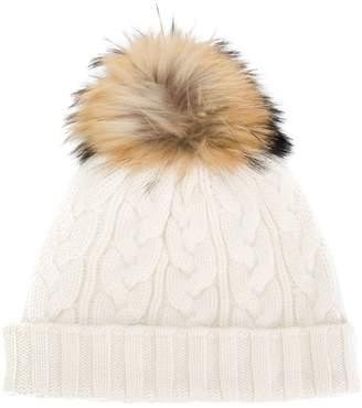 N.Peal pompom beanie hat