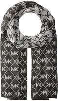 MICHAEL Michael Kors Diamond Metallic Logo Muffler Scarves